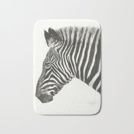 Zebra in Watercolor Bath Mat