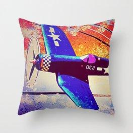 F4U Corsair Pop Art Throw Pillow