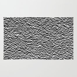 Dark Side of the Moon Silver Crater Abstract Rug