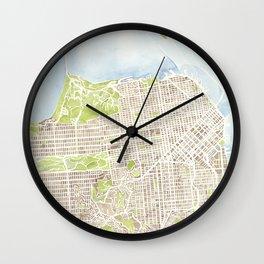San Francisco CA City Map  Wall Clock