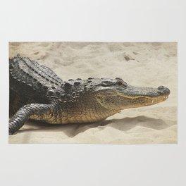 Alligator Photography   Reptile   Wildlife Art Rug