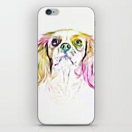 Cavalier King Charles Spaniel Dog Art Painting iPhone Skin
