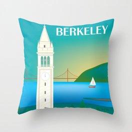 Berkeley, California - Skyline Illustration by Loose Petals Throw Pillow