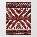 Yomut West Turkestan Tent Band Print by vickybragomitchell