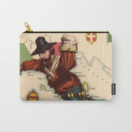 Vintage Illustrative Map of Italy (1869) Carry-All Pouch