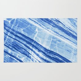 Abstract Marble - Denim Blue Rug