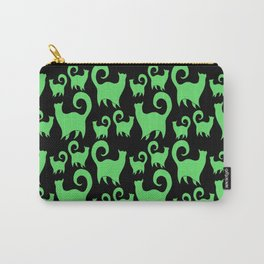 Green Snobby Cats Carry-All Pouch