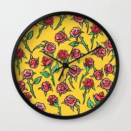 Roses Rose Gardner Wall Clock