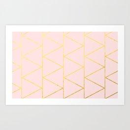 Pink Deco Art Print