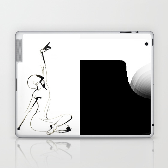 India Ink Dance Drawing Laptop & Ipad Skin by Catarinagarciaart LSK9008123