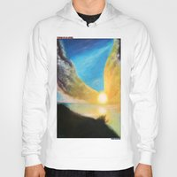 angel wings Hoodies featuring WINGS OF AN ANGEL by KEVIN CURTIS BARR'S ART OF FAMOUS FACES
