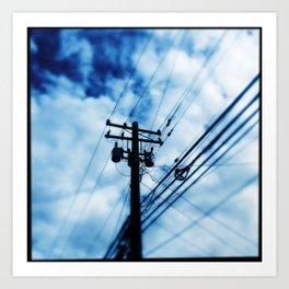 Blue Wire Art Print