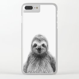 Young Sloth Clear iPhone Case