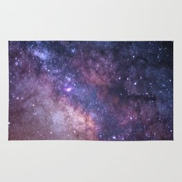 Purple Galaxy Star Travel Rug