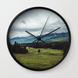 Mountain Trail - Landscape and Nature Photography Wall Clock