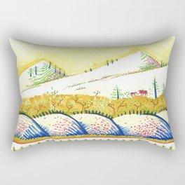 Tenderness Breaks Open the Earth Rectangular Pillow