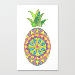 Pineapple Mandala Canvas Print