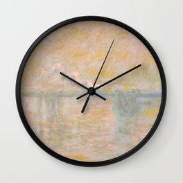 "Claude Monet ""Charing Cross Bridge"" (II) Wall Clock"