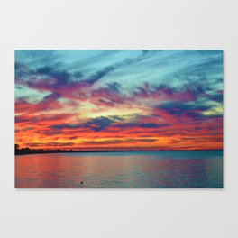 Sunset on Lake St. Clair in Belle River, Ontario Canvas Print