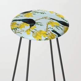Tuis in the Kowhai Flowers Counter Stool