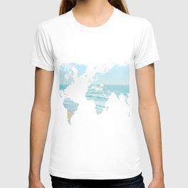 World Map Beach 12-24 T-shirt