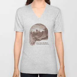 Once Upon the River (Ticonderoga Falls) Unisex V-Neck
