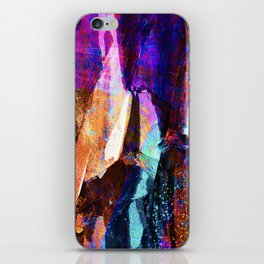 ABSTRACT NATURE // NEW ZEALAND // RAINBOW ROCKS iPhone Skin
