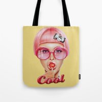 ariana grande Tote Bags featuring Cool Redux by Giulio Rossi