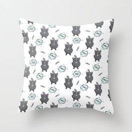 Cat fart Throw Pillow