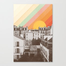 Rainbow Sky Above Paris Canvas Print