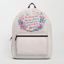 Reading can take you places Backpack