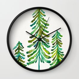 Pine Trees – Green Palette Wall Clock