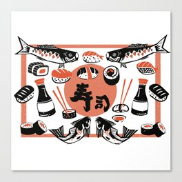 Sushi And Soy Sauce Canvas Print