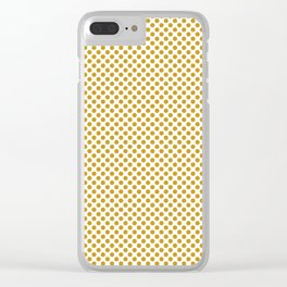Nugget Gold Polka Dots Clear iPhone Case
