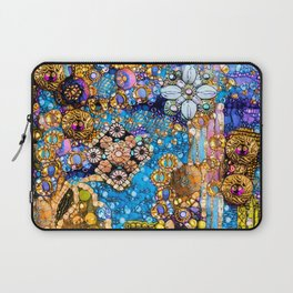Gold, Glitter, Gems and Sparkles Laptop Sleeve