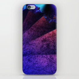 Pleated fantasy forest iPhone Skin