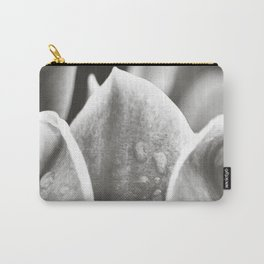 Black and White Magnolia Carry-All Pouch