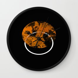 Collusion - Abstract in black, gold and white Wall Clock