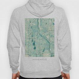 Minneapolis Map Blue Vintage Hoody