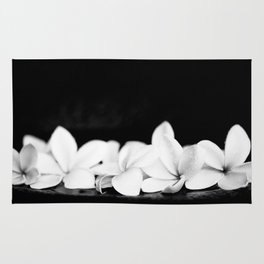 Singapore White Plumeria Flowers the Fragrance of Hawaii Rug