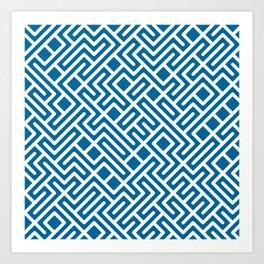 10 Print: Bold Blue Art Print