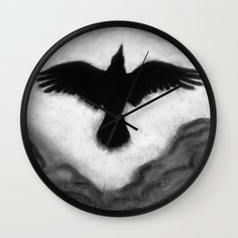 Flight of the Crow Wall Clock