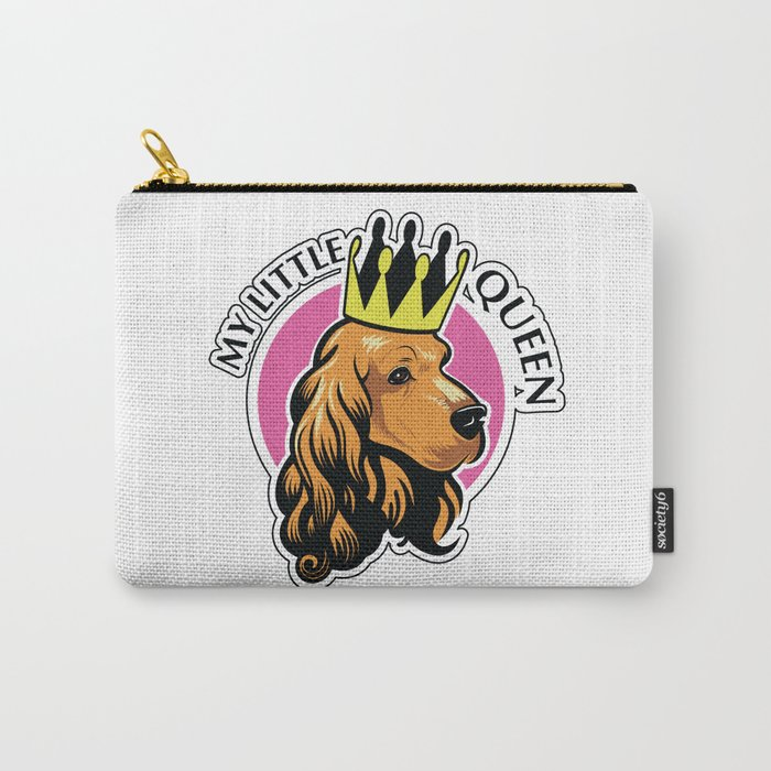 Red female cocker spaniel head with crown Carry-All Pouch