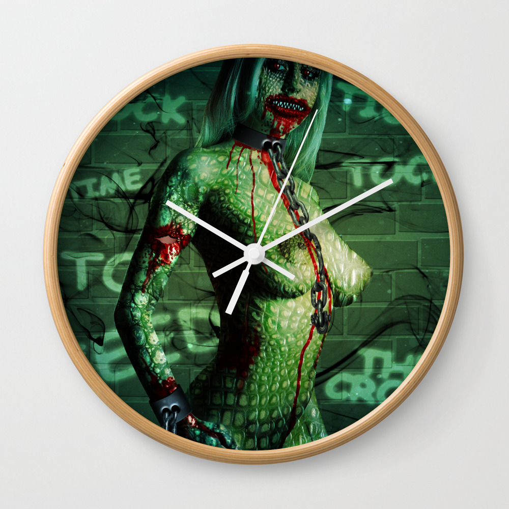 Killer Croc - Tick Tock, Tick Tock! Time To Feed T… Wall Clock by Summerswag CLK8763413
