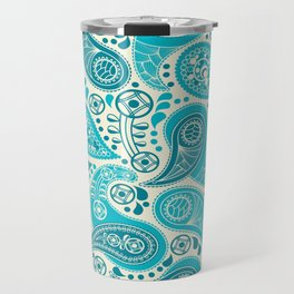 Paisley Pattern Boteh Buta Droplet Abstract Travel Mug