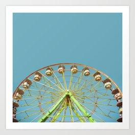 Ferris wheel ride on a sunny day at the Marin County Fair in San Rafael Art Print