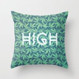 HIGH TYPO! Cannabis / Hemp / 420 / Marijuana  - Pattern Throw Pillow