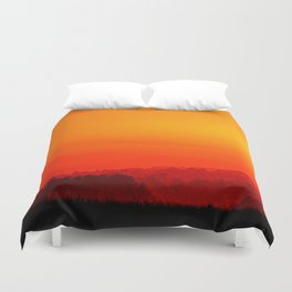 Down colorful hill Duvet Cover