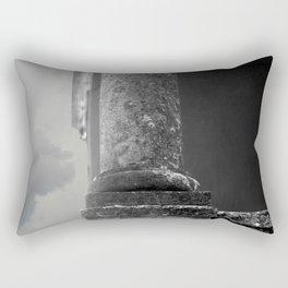 Stone column of a grey sky Rectangular Pillow