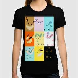 Eevee evolutions square- Eeeveelutions PKMN T-shirt